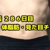 【デブ活おじさん286日目】体重・体脂肪測定・体型チェック画像まとめ