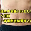【デブ活おじさん335日目】体重・体脂肪測定・体型チェック画像まとめ